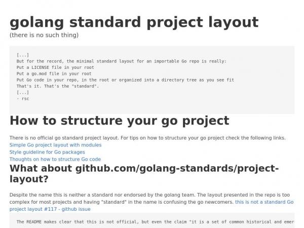 golangstandardprojectlayout.com